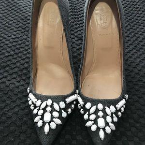 Grey J.Crew heels